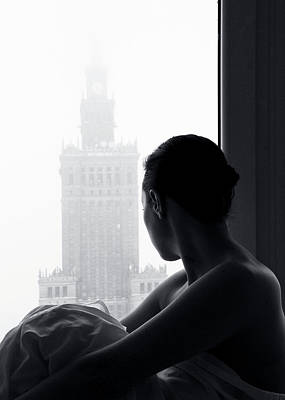 Nude Portraits Photograph - Foggy Waiting by Paralaxa