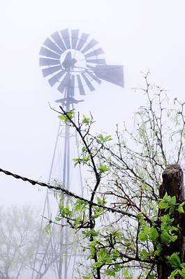 Photograph - Foggy Windmill by Adam Reinhart