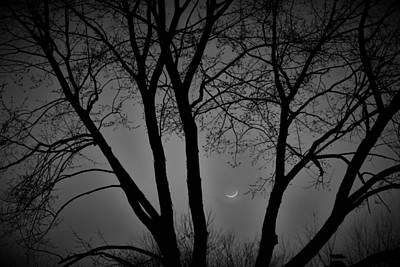 Foggy Winter's Night Art Print by Rick Grossman
