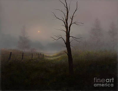 Painting - Foggy Woods by Sena Wilson