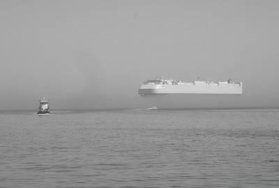 Fogs Floating Barge Art Print by WaLdEmAr BoRrErO