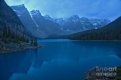 Photograph - Fogy Morning At Moraine Lake by Adam Jewell