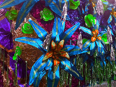 Photograph - Foil Flora Float At The Mardi Gras In New Orleans by Michael Hoard