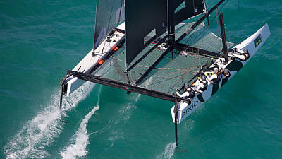 Photograph - Foiling At Key West by Steven Lapkin