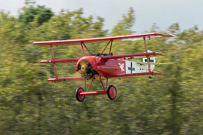 Photograph - Fokker Dr.1 In Flight by Liza Eckardt