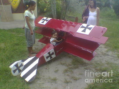 Baron Von Richtoffen Sculpture - Fokker Dr1 Triplane  by Richard John Holden RA