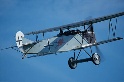 Photograph - Fokker D.vii In Flight by John Clark