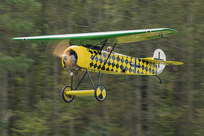 Photograph - Fokker D.viii In Flight by Liza Eckardt