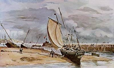 Painting - Fokstone Harbour by Constable John