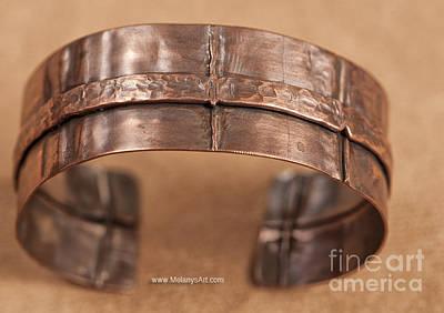 Copper Bracelet Jewelry - Fold Formed Copper Bracelet by Melany Sarafis