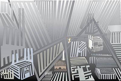 Digital Art - Folded City by Kevin McLaughlin