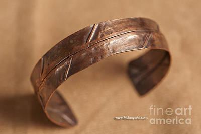 Copper Bracelet Jewelry - Folded Copper Bracelet by Melany Sarafis