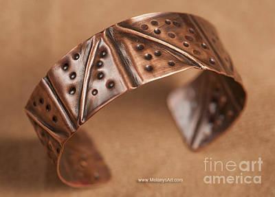 Copper Bracelet Jewelry - Folded Copper Cuff Lightweight by Melany Sarafis
