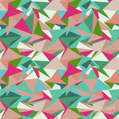 Repeat Digital Art - Folded Geometric by Marni Stuart