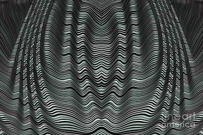Artistic Digital Art - Folded Grey by John Edwards