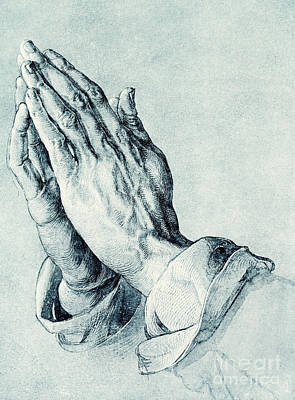 Sketching Drawing - Folded Hands Of An Apostle by Albrecht Durer