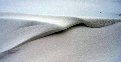 Photograph - Folded Over Snowdrift by Jack G  Brauer