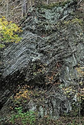 Photograph - Folded Rocks, West Virginia 2016 by Chris Honeyman
