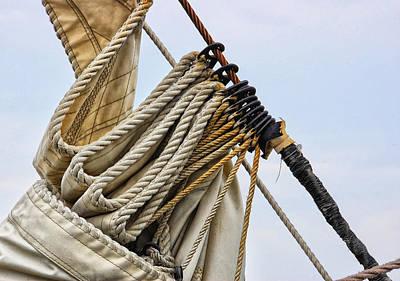 Photograph - Folded Sail by Peg Runyan