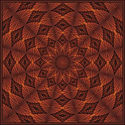 Digital Art - Folded Spiral -- Tile 1 by Doug Morgan
