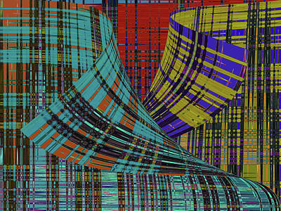 Digital Art - Folds Of Plaid by David Pantuso