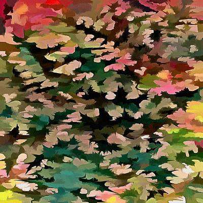 Digital Art - Foliage Abstract In Autumnal Tones by Tracey Harrington-Simpson