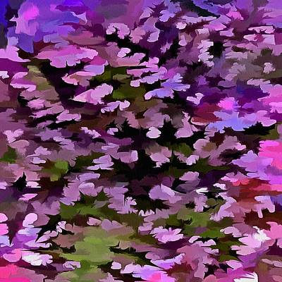 Painting - Foliage Abstract Pop Art In Ultra Violet And Purple by Taiche Acrylic Art