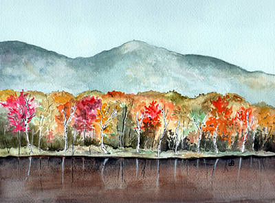 New Hampshire Artist Painting - Foliage by Brenda Owen