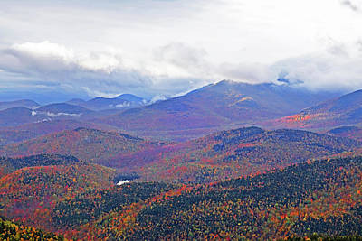 Photograph - Foliage Covered Mountainscape Keene Valley Adirondacks New York Red by Toby McGuire