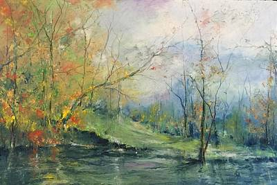 Painting - Foliage Flames On The River by Robin Miller-Bookhout