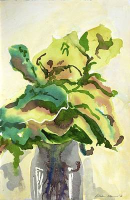 Painting - Foliage In Vase by Kathleen Barnes
