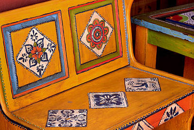 Folk-art Bench Art Print