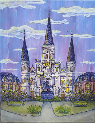 Painting - Folk Art Cathedral by Catherine Wilson