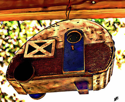 Photograph - Folk Art Cookie Cutter Camper by Gina O'Brien