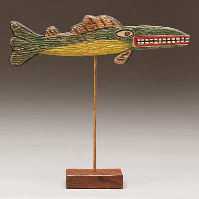 James Neill Sculpture - Folk Art Fish by James Neill