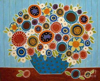 Folk Painting - Folk Blooms by Karla Gerard