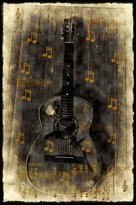 Folk Guitar Art Print by Bill Cannon