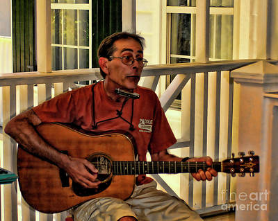 Digital Art - Folk Musician by Susan Cliett
