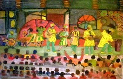 Folk Play Art Print by Philip Okoro
