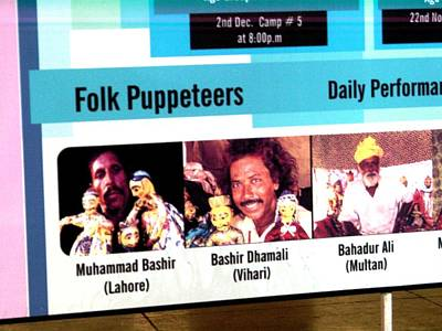Photograph - Folk Puppeteers Poster  by Fareeha Khawaja