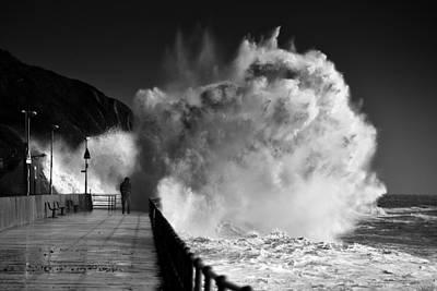 Folkestone Harbour Wall Art - Photograph - Folkestone Storm Imogen  by Ian Hufton