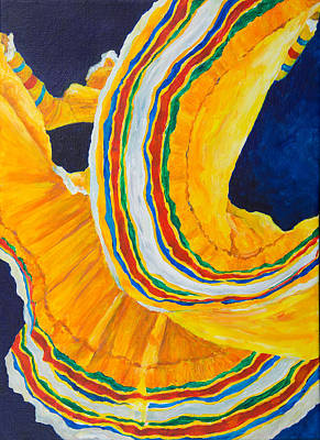 Folklorica In Yellow Art Print