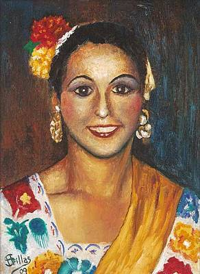 Painting - Folklorico Dancer by Herman Sillas