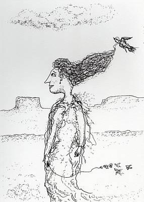 Drawing - Follow Me Down by Jim Taylor