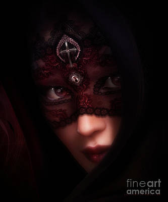 Eyelash Digital Art - Follow Me Gothic Romance by Shanina Conway