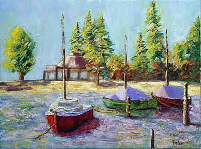 Painting - Follow Me by Linda Riesenberg Fisler
