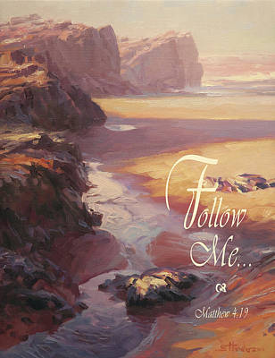 Ocean Digital Art - Follow Me by Steve Henderson