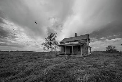 Buzzard Wall Art - Photograph - Follow The Buzzards by Aaron J Groen