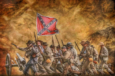 Follow The Flag Art Print by Randy Steele