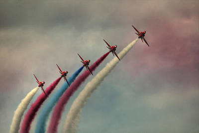 Smoke Trails Photograph - Follow The Leader by Phil Clements